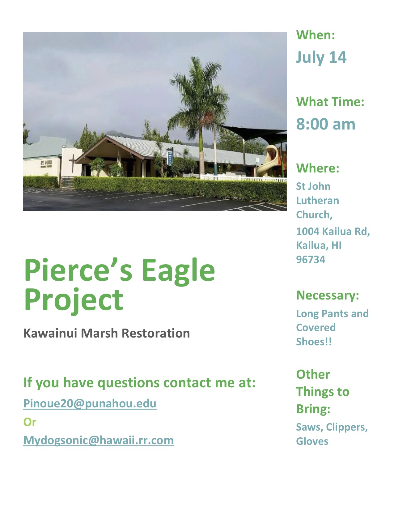 Eagle Project Flyer